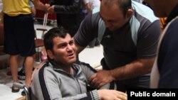 محسن پودنکی، زمانی که با ویلچر به اردوی تیم ملی رفته بود