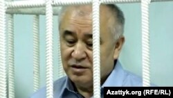 Omurbek Tekebaev appears in court in June.