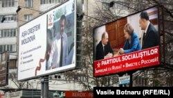 Postere electorale la Chișinău