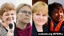 Зьлева направа: Юлія Чарняўская, Марына Золатава, Людміла Чэкіна і Вольга Лойка