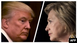 Republican presidential candidate Donald Trump and his Democratic opponent, Hillary Clinton, have clashed over U.S. relations with Russia. (combo photo)