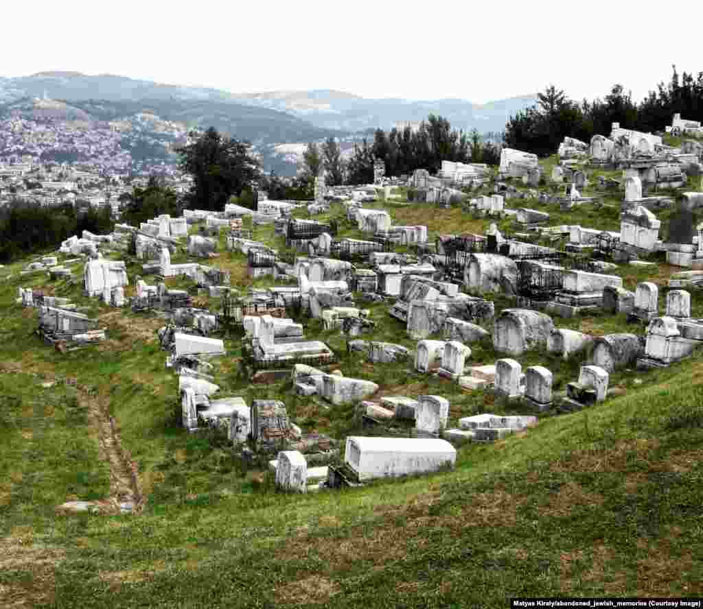A Jewish cemetery in the hills above Sarajevo. Beginning in the spring of 2018, 22-year-old student Matyas Kiraly has been searching for the stone remnants of Europe's dwindling Jewish population.