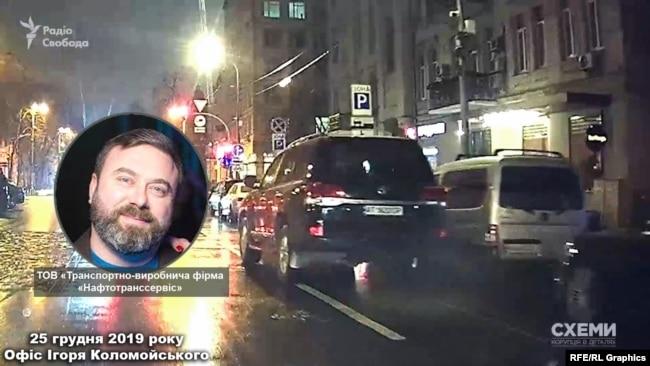 Як виявилося, припарковане авто – з кортежу бізнесмена Михайла Кіперман