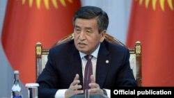 Сооронбай Жээнбеков на встрече с руководителями СМИ Кыргызстана. Бишкек, 2 ноября 2019 года.