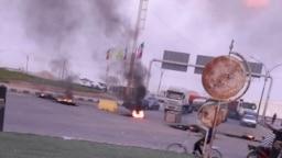 تصویری از اعتراضات در ماهشهر