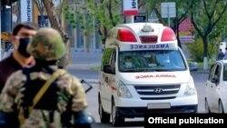 """""""Тез ёрдам"""" хизмати машинаси, июнь, 2020, Тошкент"""