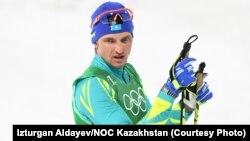 Казахстанский лыжник Алексей Полторанин. Пхёнчхан, 24 февраля 2018 года.