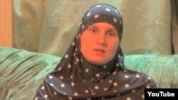 «Хизб ут-Тахрир» мүшесі, тұтқын Рафис Галиулиннің әйелі Наталья Войтенкова. Youtube-ке жарияланған видео скриншоты.