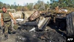 Уничтоженная бронетехника, которая по утверждениям украинской армии является российской