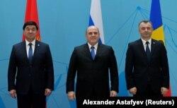 Gyrgyzystanyň, Russiýanyň hem Moldowanyň premýer-ministrleri 2020-nji ýylyň 31-nji ýanwarynda Almatyda geçen Ýewroaziýa hökümetara Geňeşiniň maslahatynyň öň ýanynda.
