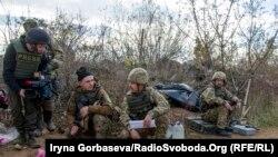 Донецк облысындағы украин әскерилері. Украина, қараша 2016 жыл.