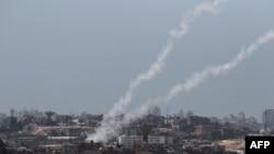 Ракеты, выпущенные палестинскими боевиками по израильской территории, 20 августа 2014