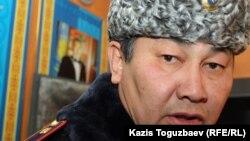 Жаңаөзен қаласының коменданты, полиция полковнигі Аманжол Қабылов. Жаңаөзен, 21 желтоқсан 2011 жыл.