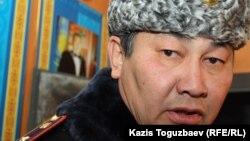 Жаңаөзен қаласының коменданты, полковник Аманжол Қабылов. Жаңаөзен, 21 желтоқсан 2011 жыл. (Көрнекі сурет)