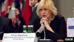 Մամուլի ազատության հարցերով ԵԱՀԿ-ի ներկայացուցիչ Դունյա Միյատովիչ