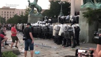Belgrade Protesters Storm Serbian Parliament, Clash With Police