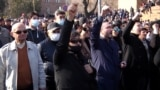Opposition And Military Supporters Continue Protests in Yerevan GRAB 1