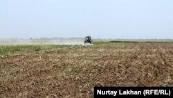 Трактор на пашне в Алматинской области. Иллюстративное фото.