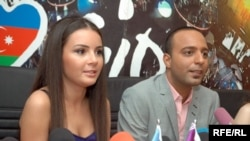 Azerbaijan -- AySel and Arash, Azerbaijani participants in the Eurovision Song Contest 2009, at a press-conference in Baku, 19Mar2009