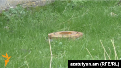 Фугас, обнаруженный в Гюмри в Армении. Иллюстративное фото.