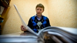 «Миграция және заң» ұйымының Сочи бөлімшесінің директоры Семен Симонов. 25 қараша, 2013 жыл.