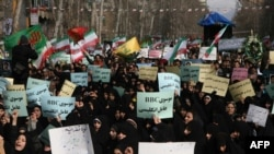 Демонстрации оппозиции в Тегеране в феврале этого года