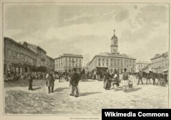 Центральная площадь (в прошлом площадь Рынок), Черновцы. 1899 год