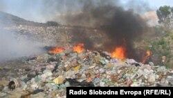 Архивска фотографија - Запален отпад на депонија кај Дебар