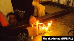 مراسم في كنيسة مريم العذراء في ساحة الميدان ببغداد