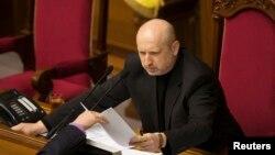 Александр Турчинов, спикер парламента Украины, и. о. президента страны.