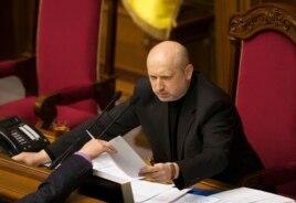 Александр Турчинов Украина парламентінде төрағалық етіп отыр. Киев, 23 ақпан 2014 жыл.