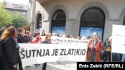 Protest hrvatskih novinara