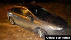 Автомобиль полицейского, в багажнике которого был обнаружен его труп