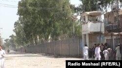 Pamje pas sulmit të sotëm të talibanëve në Badaber