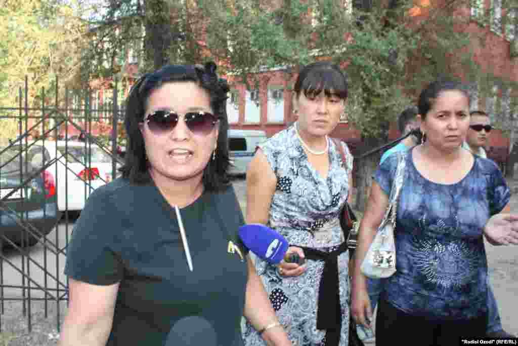 Сторонники бывшего министра Равшан Сабирова