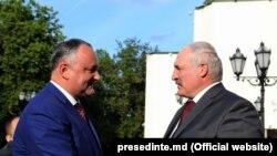 Igor Dodon și Alexandr Lukașenka