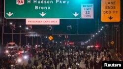 Pamje nga protestat në Nju Jork