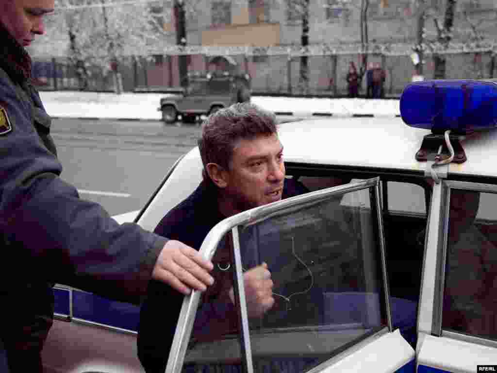 Nemtsov was detained but released later the same day.