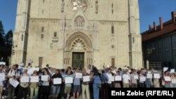 Prosvjed u Zagrebu u znak sjećanja na žrtve u Ahmićima