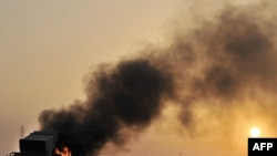 На подступах к Рас Лануфу горит ракетная установка