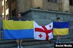 Пикет в поддержку Украины и крымских татар, Тбилиси, май 2014 г.