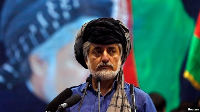 "Afghan presidential candidate Abdullah Abdullah told a rally of supporters on July 8: ""We are the winner of this round of election without any doubt. We will not allow the fraudulent government to rule this country even for a day, without any doubt."""