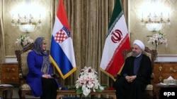 Hassan Rouhani və Kolinda Grabar-Kitarovic