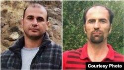 بهنام ابراهیم زاده (سمت راست) و واله زمانی (سمت چپ)، دو فعال کارگری که آزاد شده اند.
