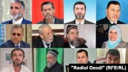 Некоторые из задержанных членов Партии исламского возрождения (ПИВТ).