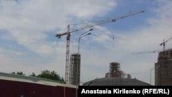 Строящаяся мечеть в Аргуне