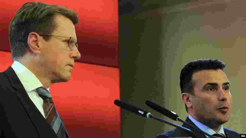 МАКЕДОНИЈА - Подготвени сме за географска одредница за името, изјави премиерот Зоран Заев одговарајќи на прашање на новинар да ја коментира изјавата на грчкиот министер за надворешни работи Никос Коѕијас кој побара од Скопје да излезе и јавно да каже која ќе биде придавката во сложеното име. Заев не ја кажа географската одредница.