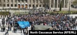 Митинг во Владикавказе. Апрель 2020 года