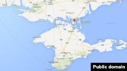 Ukraine -- Chongar (google maps)