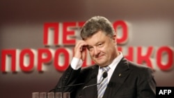 Ukraine -- Presidential candidate Petro Poroshenko gives a press conference in Kyiv, May 25, 2014